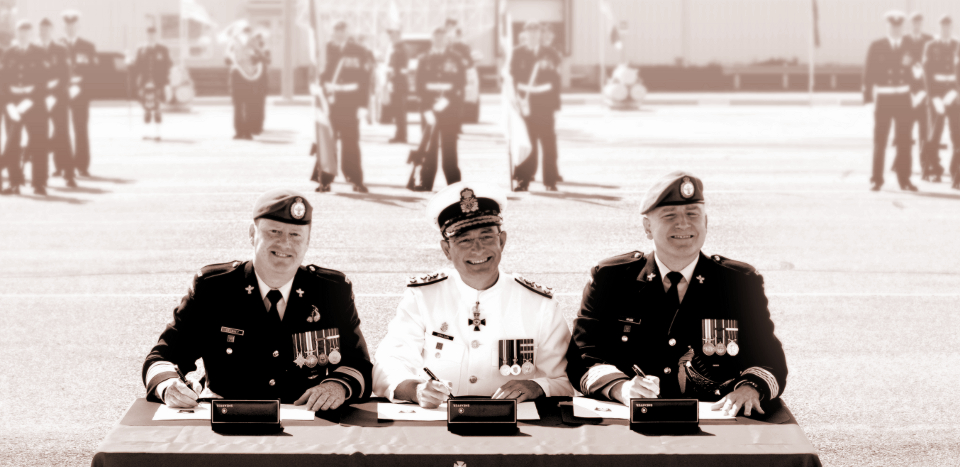 Photograph of three generals