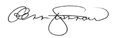 Signature of Glenn M. Stannard, Officer of the Order of Merit